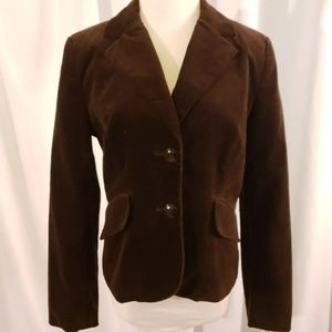 brown velvet jacket blazer 8 boyfriend career casu